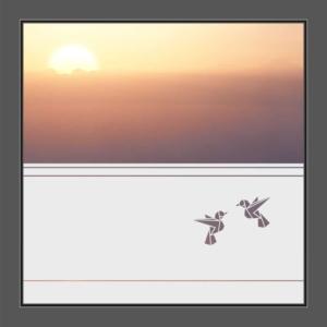 Motiv Vögel auf Fensterfolie