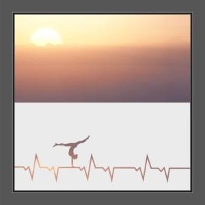 Motiv Herzschlag mit Tänzer auf Fensterfolie