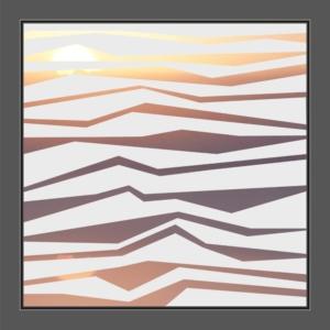 Motiv Linienformen auf Fensterfolien