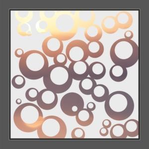 Motiv Kreise auf Fensterfolie