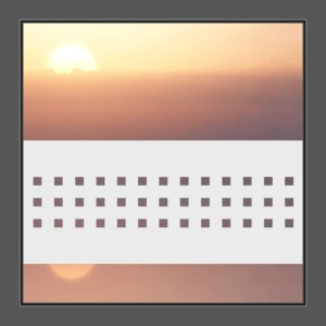 Sichtschutzfolie Balken mit Quadraten