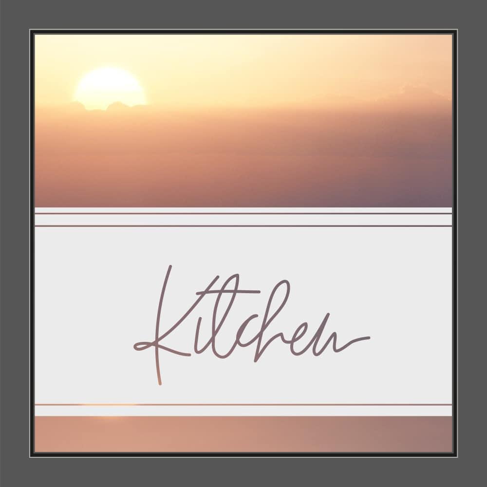 Motiv Text Kitchen auf Fensterfolie