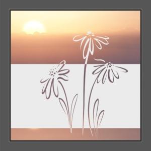 Motiv Blumen auf Fensterfolie