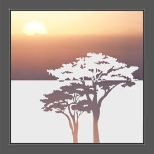 Motiv Baum auf Fensterfolie