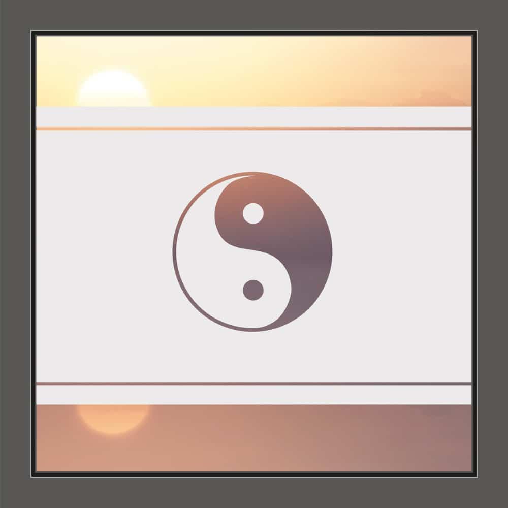 Motiv Yin und Yang auf Fensterfolie