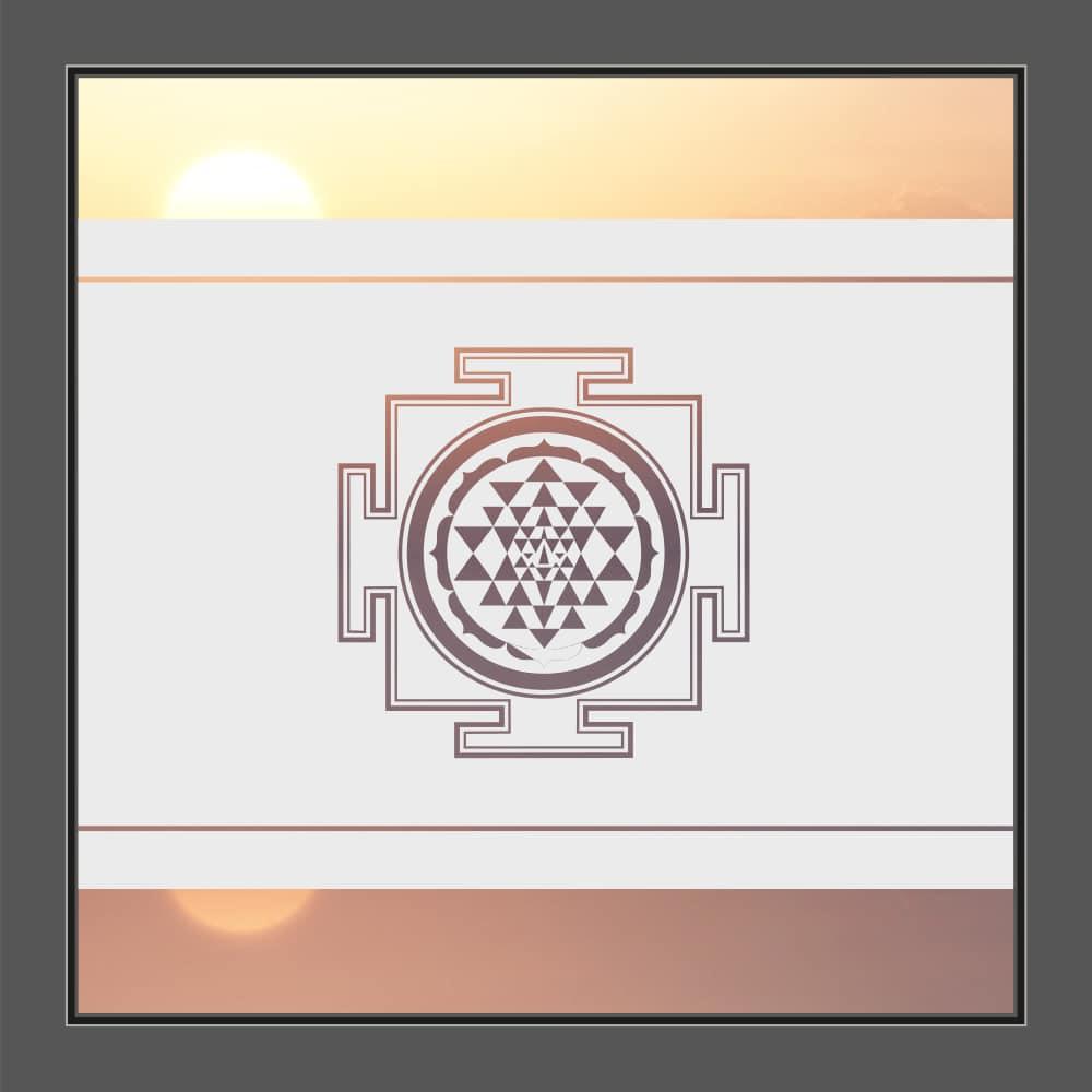 Motiv Shri Yantra auf Fensterfolie