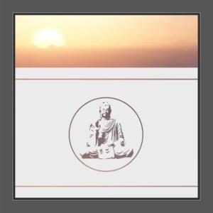 Motiv Buddha auf Fensterfolie