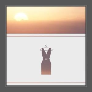 Motiv Kleid oder Boutique auf Fensterfolie