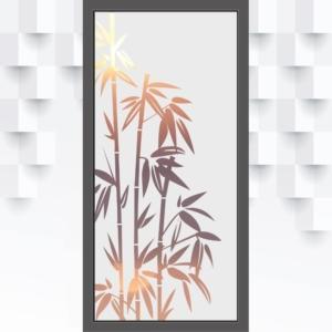 Motiv Bambus auf Fensterfolie