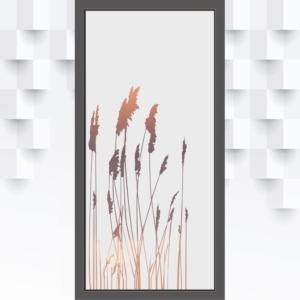 Motiv Gräser auf Fensterfolie
