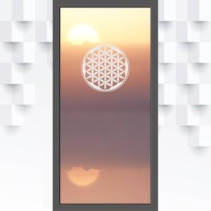 Motiv Blume des Lebens auf Fensterfolie