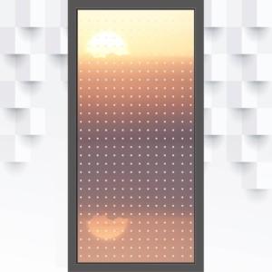 Motiv Kästchen oder kleine Quadrate auf Fensterfolie
