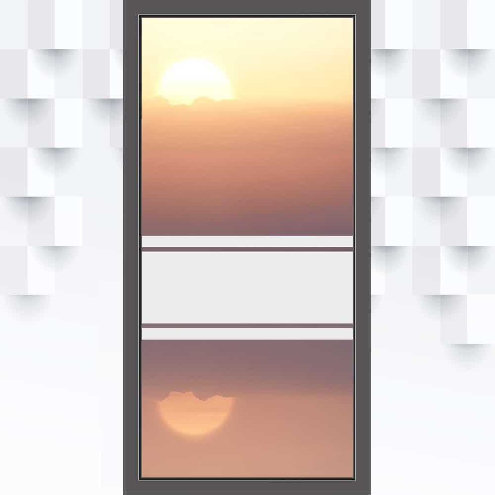 Motiv Streifen mit Balken auf Fensterfolie
