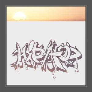 Motiv Hiphop-Kunst auf Fensterfolie