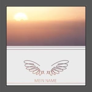 Motiv Flügel mit Text auf Fensterfolie