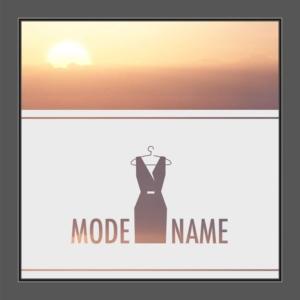Motiv Mode mit Text auf Fensterfolie