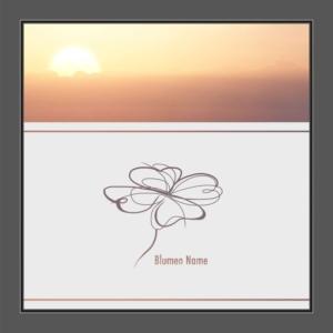 Motiv Blumen mit Text auf Fensterfolie
