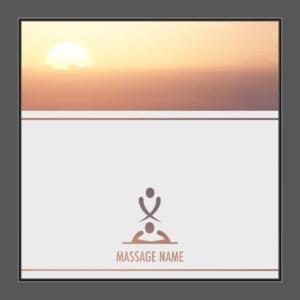 Motiv Massage mit Text auf Fensterfolie