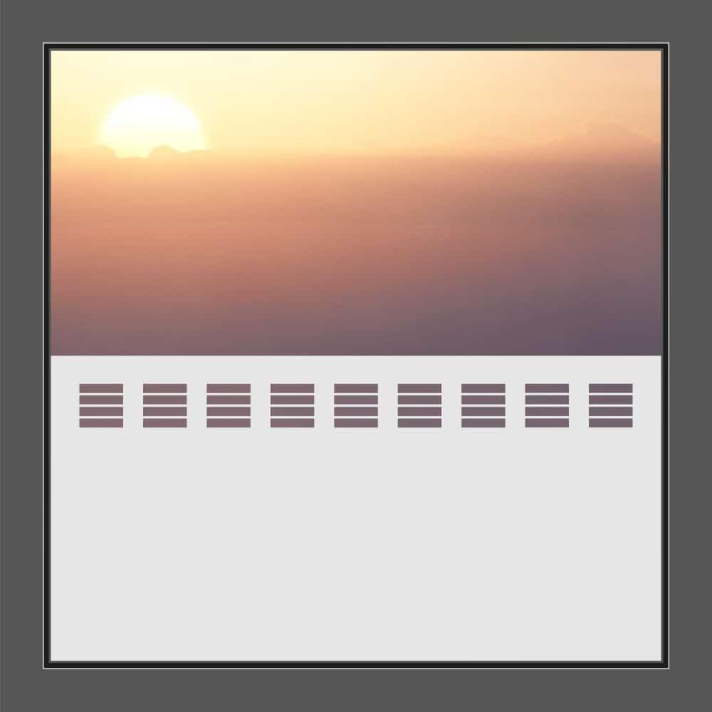 Motiv kurze Streifen auf Fensterfolie