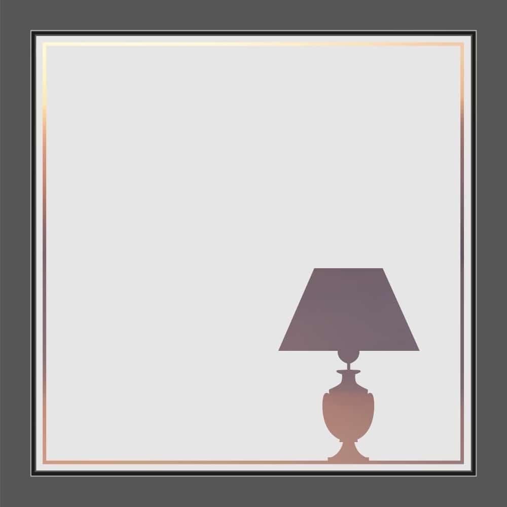 Motiv Stehlampe auf Fensterfolie