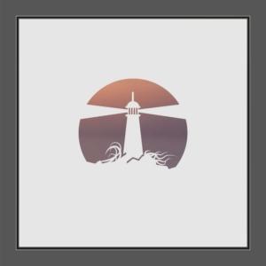 Motiv Leuchtturm auf Fensterfolie