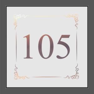 Motiv individuelle Hausnummer auf Fensterfolie