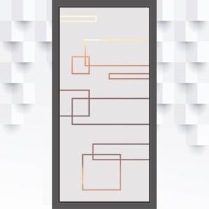 Sichtschutzfolie mit Türformen