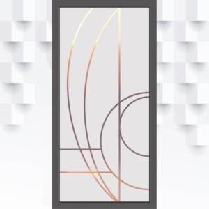 Sichtschutzfolie mit Türformen für Glastüren