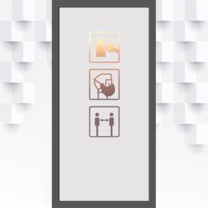 Sichtschutzfolie Corona-sicherheitshinweis für Glastüren