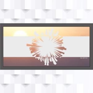Motiv Abstrakte Star-Kunst auf Fensterfolie