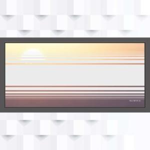 Motiv Balken mit Streifen oder Linien auf Fensterfolie