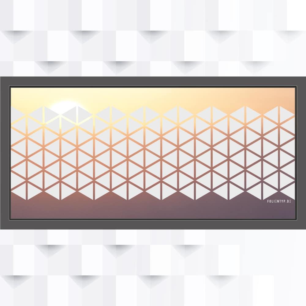 Motiv Dreieck Muster auf Fensterfolie