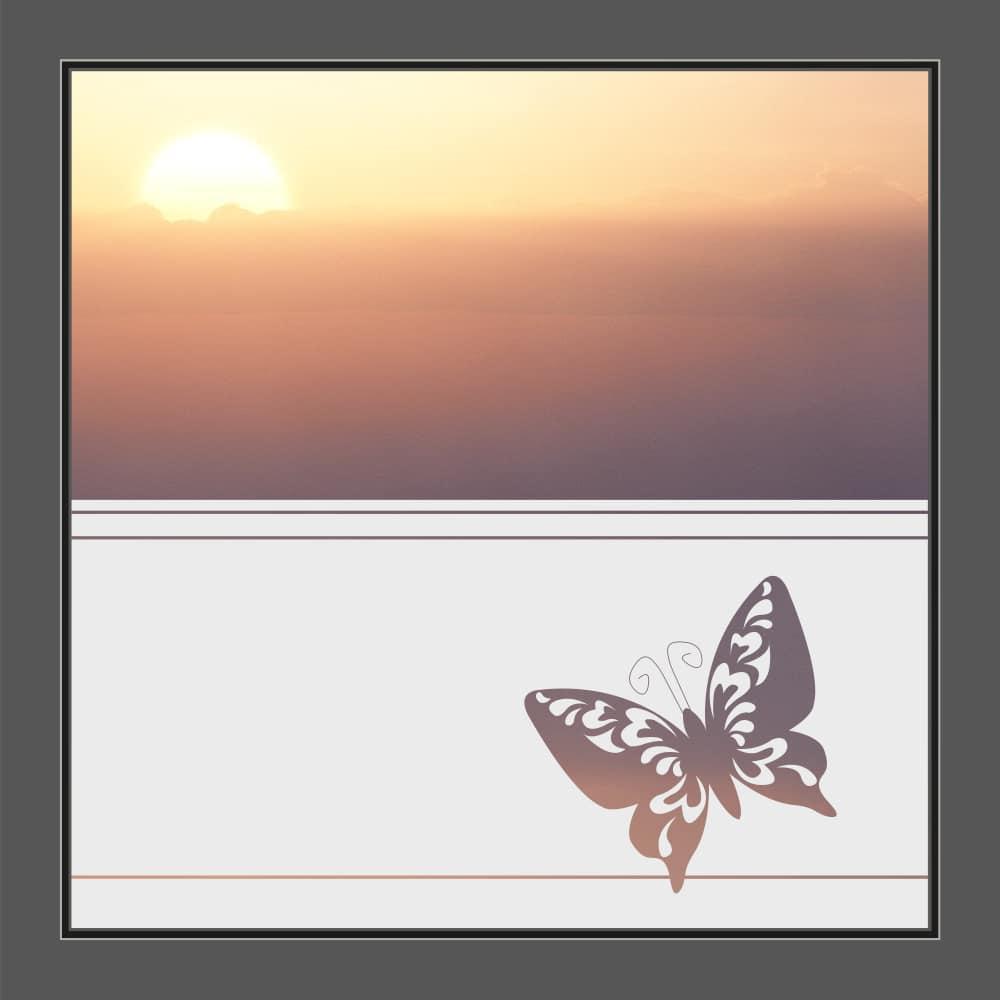 Motiv Schmetterling auf Fensterfolie