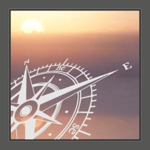 Motiv Compass auf Fensterfolie