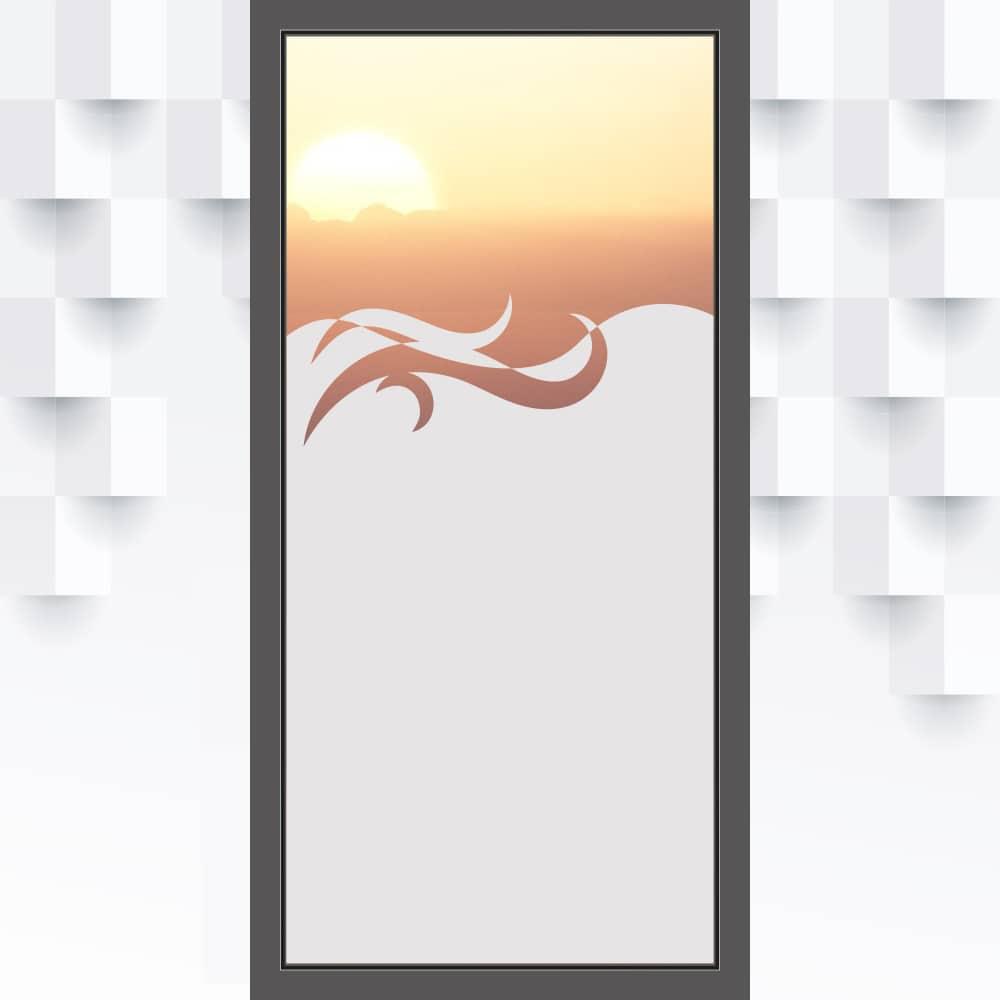 Motiv Welle auf Fensterfolie