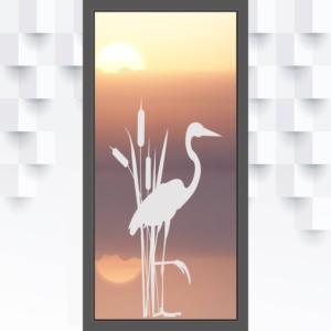 Motiv Storch auf Fensterfolie