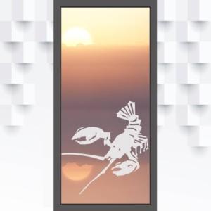 Sichtschutzfolie Lobster für Glastüren
