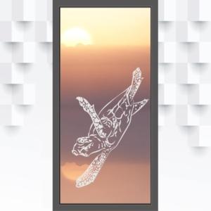 Motiv Schildkröte auf Fensterfolie