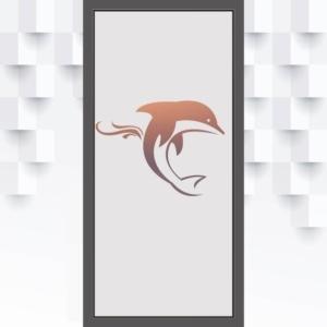 Sichtschutzfolie Delfin für Glastüren