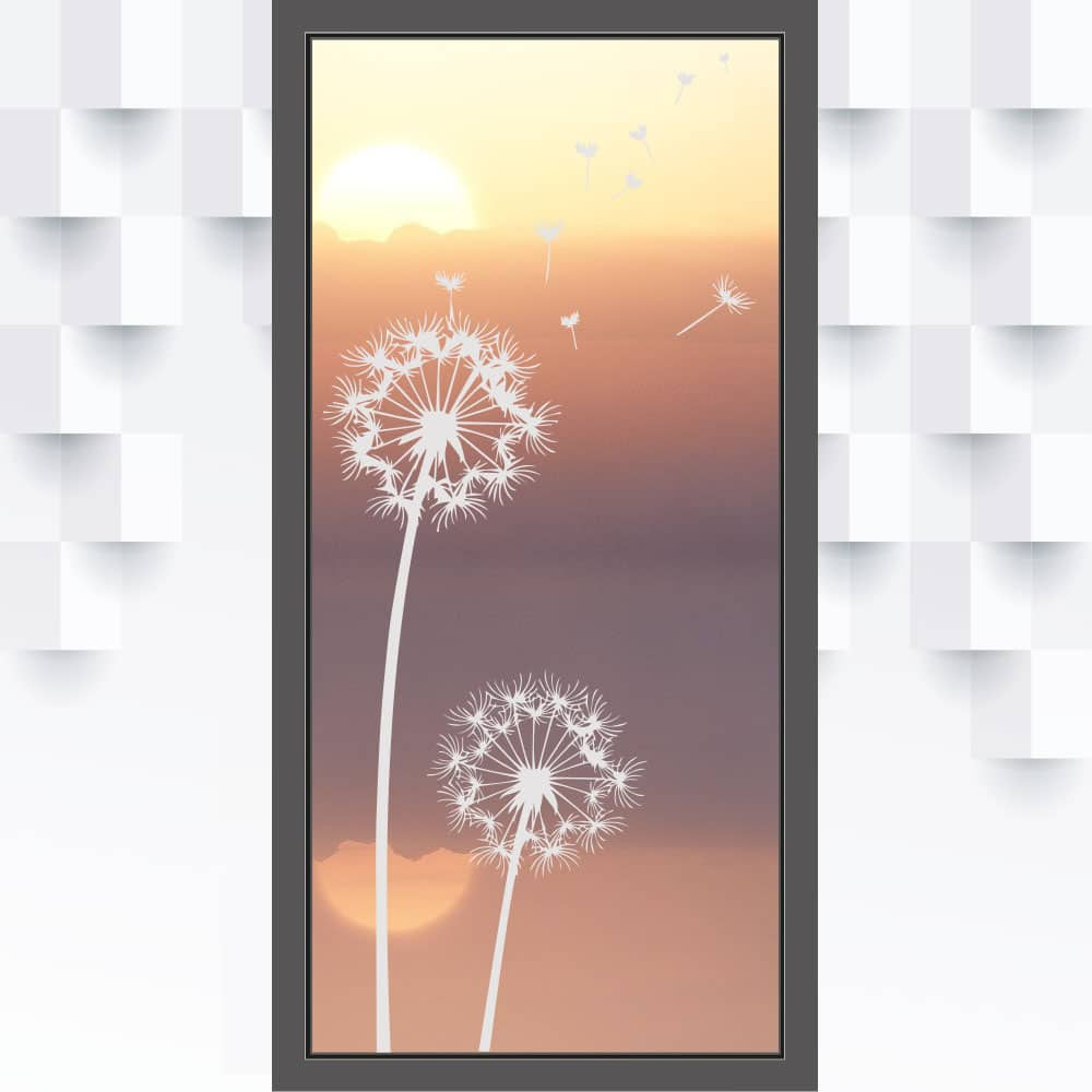 Motiv Pusteblume auf Fensterfolie