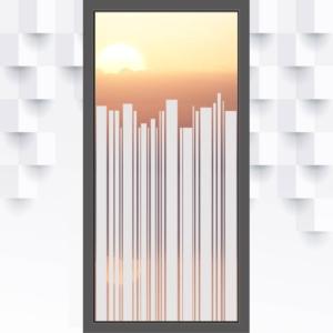 Motiv Balken auf Fensterfolie