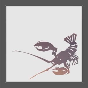 Motiv Lobster auf Fensterfolie