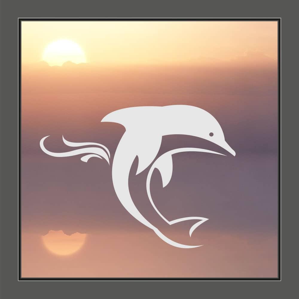 Motiv Delfin auf Fensterfolie