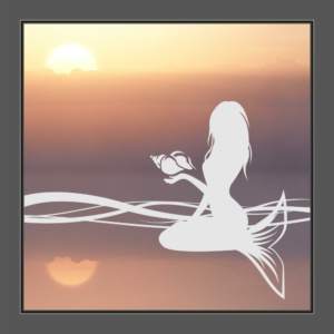 Motiv Meerjungfrau auf Fensterfolie