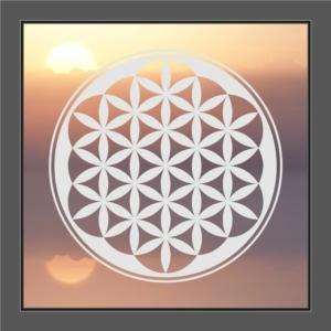 Fenstersticker Blume des Lebens