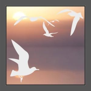Fenstersticker Vögel auf Fenster