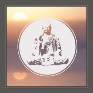 Fensterfolie Buddha