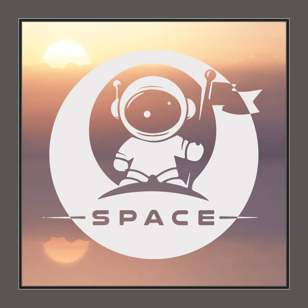 Fenstersticker Astronaut